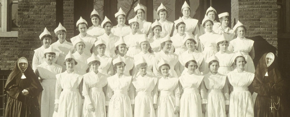 Poor Handmaids of Jesus Christ started St. Joseph Hospital in 1869 and continued to serve there until 2013.