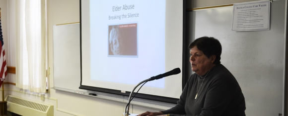 Sr. Bonnie Speaks on Elder Abuse at Lampen Lecture