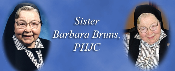 In Memory of Sister Barbara Bruns, PHJC