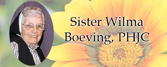 In Memory of Sister Wilma Boeving, PHJC