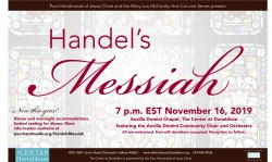 Messiah performance poster